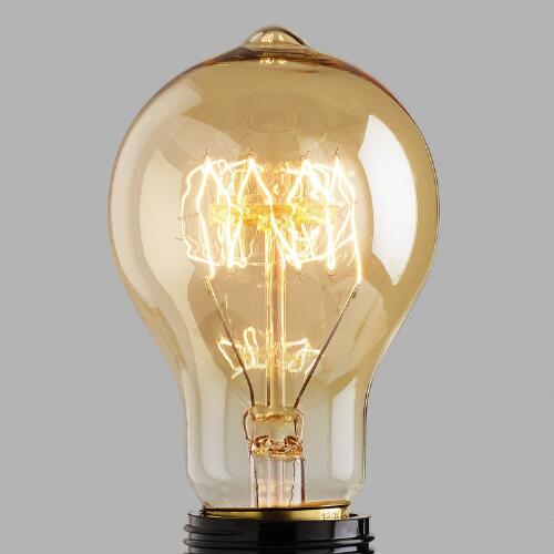 Round Edison Filament Light Bulb