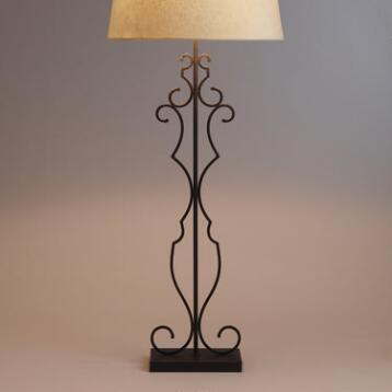 Metal Scroll Floor Lamp Base