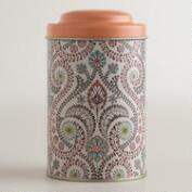 Coral Treetop Tea Tin