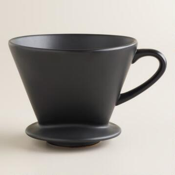 Matte Black Euro Ceramic Drip Coffee Filter