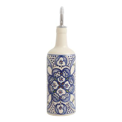 Hand Painted Olive Oil Dispenser From Spain