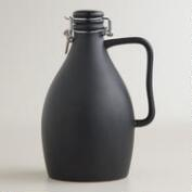 Matte Black Ceramic Beer Growler