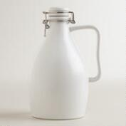 Matte White Ceramic Beer Growler