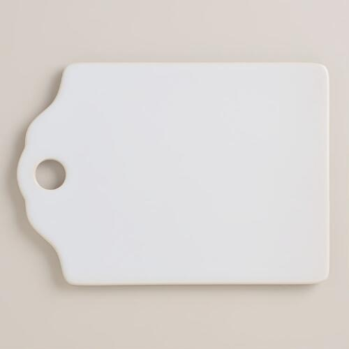 Small White Ceramic Cutting Board
