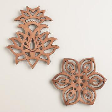 Caravan Copper Trivets, Set of 2