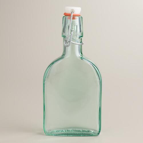 Small Recycled Glass Hermetic Flask Bottle