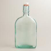 Large Recycled Glass Hermetic Flask Bottle