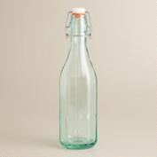 Faceted Recycled Glass Hermetic Storage Bottle