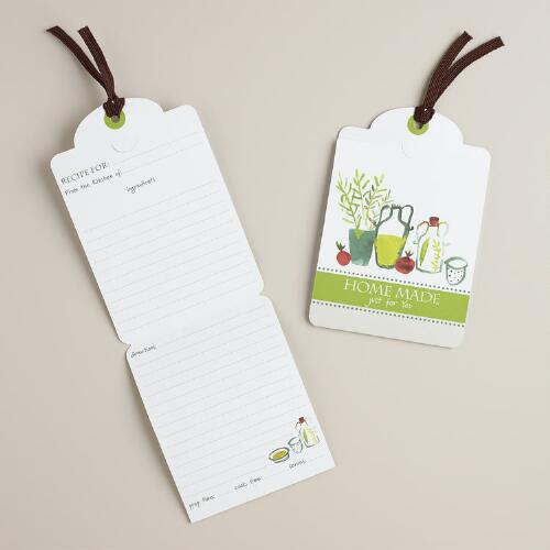 Natural Kitchen Recipe Card Gift Tags, 6-Count