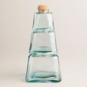 Recycled Glass 3-Tier Stackable Storage Jar