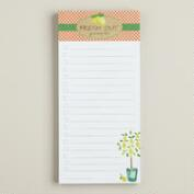 Natural Kitchen Magnetic Notepad