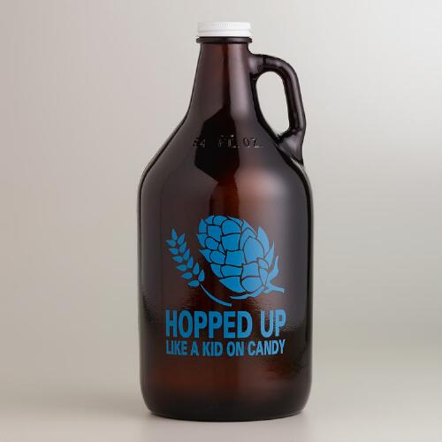 Hopped Up Glass Beer Growler