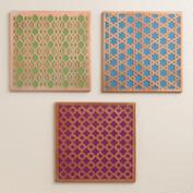 Etched Trivets, Set of 3