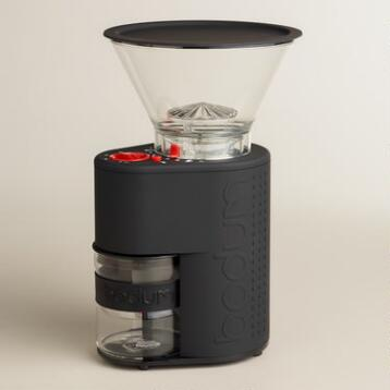 Black Bodum Bistro Electric Burr Coffee Grinder
