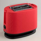 Red Bodum Bistro 2-Slice Toaster