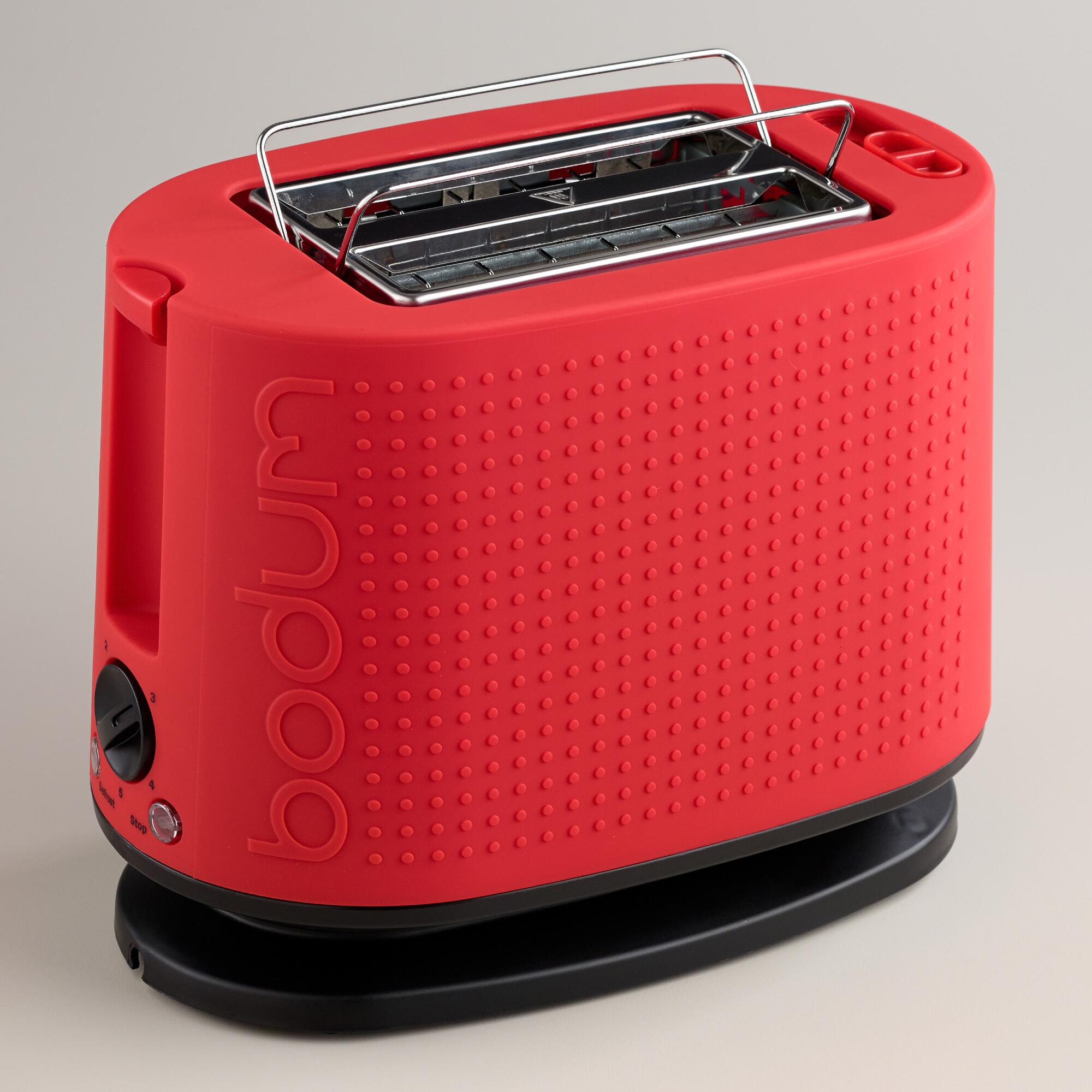 red bodum bistro 2 slice toaster world market. Black Bedroom Furniture Sets. Home Design Ideas