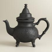 Moroccan Cast Iron Infuser Teapot