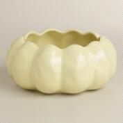White Pumpkin Ceramic Open Baker