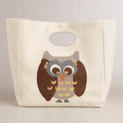 Owl Fluf Organic Cotton Lunch Bag