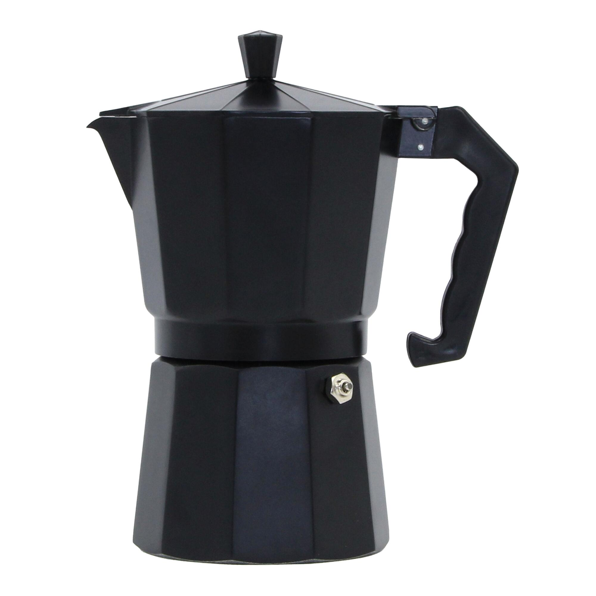 Coffee Pot For Coffee Maker : Black Matte 6-Cup Stovetop Moka Pot Espresso Maker World Market