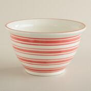 Red Stripe Terracotta Mixing Bowl