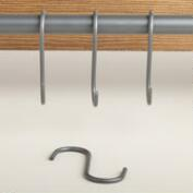 Small Modular Kitchen Wall Storage S-Hooks, Set of 6