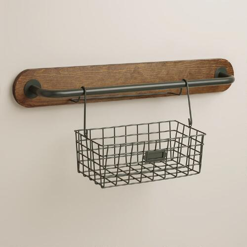 Wire Modular Kitchen Wall Storage Basket Caddy