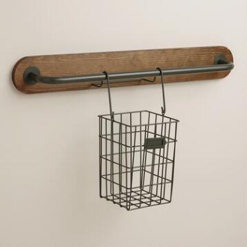 Wire Modular Kitchen Wall Storage Cooking Utensil Caddy