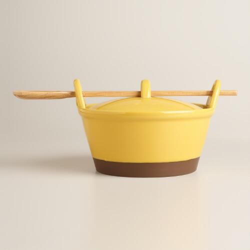 Sunflower Potluck Baker with Serving Spoon