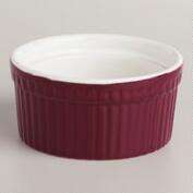Magenta Ceramic Ramekins, Set of 4