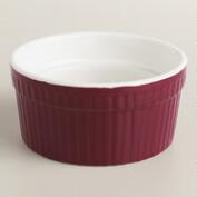 Magenta Ceramic Souffle Ramekins, Set of 4