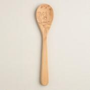 Woodland Creatures Beechwood Mixing Spoon