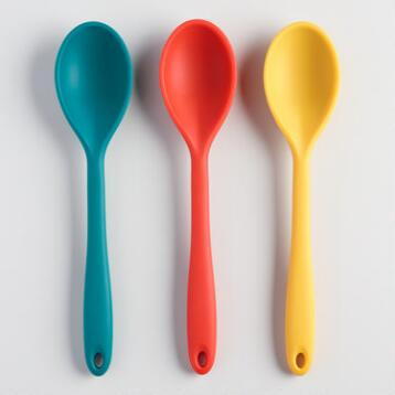 Fall Colors Silicone Spoons,  Set of 3