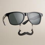 Black Sun-Stache Sunglasses