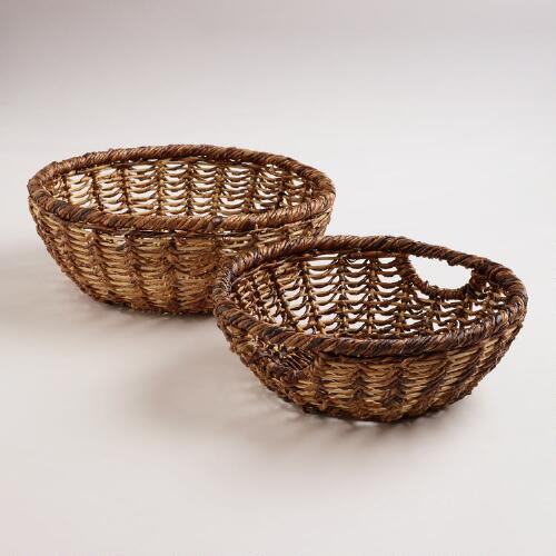 Alicia Open Weave Round Baskets
