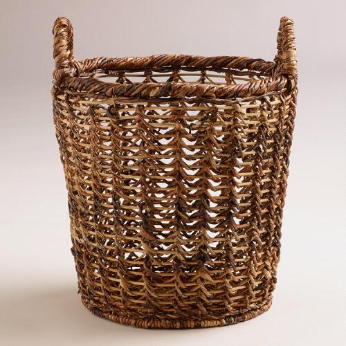 Alicia Open Weave Tote Basket