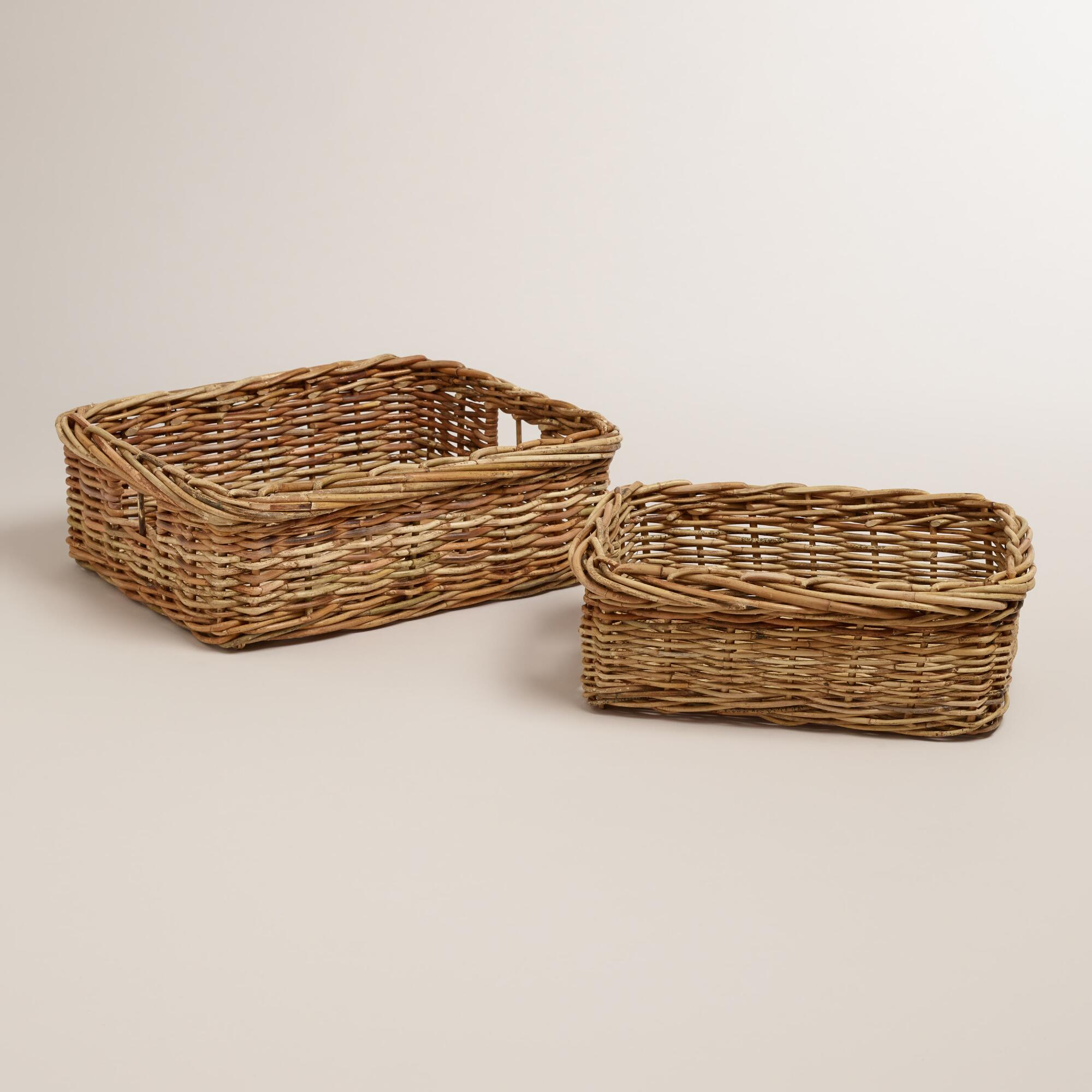 Roxie rattan baskets world market for Cane and wicker world
