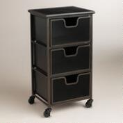 Espresso Austin 3-Drawer Cart