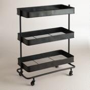 Espresso Austin 3-Shelf Cart