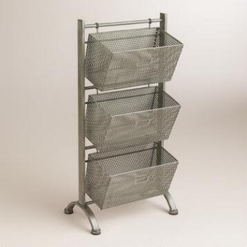 Zinc Jeremy 3-Basket Storage