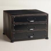 Espresso Austin 3-Drawer File