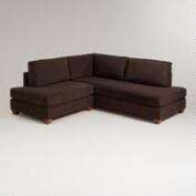 Chocolate Wyatt Sectional Sofa