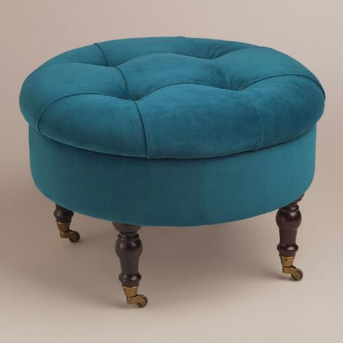 Round Peacock Lucille Ottoman