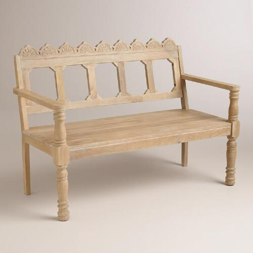 Jayla Carved Bench