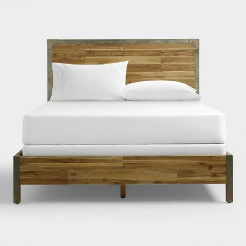 Aiden Gray Queen Size Bed