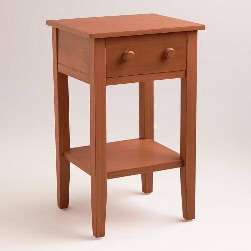 Burnt Orange Sara Nightstand