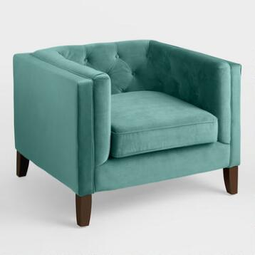 Teal Velvet Kendall Chair