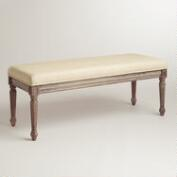 Natural Linen Paige Bench