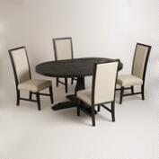 Round to Oval Black Greyson Dining Collection
