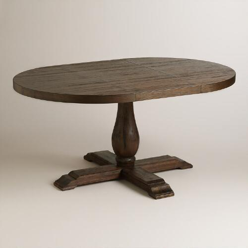 Round to Oval Java Greyson Extension Table